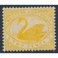 AUSTRALIA / WA - 1899 2d bright yellow Swan, W crown A watermark, MH – SG # 113