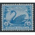 AUSTRALIA / WA - 1901 2½d blue Swan, W crown A watermark, MH – SG # 114
