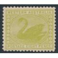 AUSTRALIA / WA - 1912 8d apple-green Swan, perf. 12½, sideways crown A watermark, MH – SG # 144