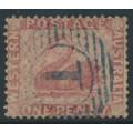 AUSTRALIA / WA - 1861 1d rose Swan, perf. 14:14, swan watermark, used – SG # 38