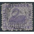 AUSTRALIA / WA - 1864 6d deep lilac Swan, perf. 13:13, no watermark, used – SG # 51