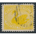 AUSTRALIA / WA - 1903 2d yellow Swan, perf. 12½, inverted V crown watermark, used – SG # 118a