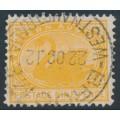 AUSTRALIA / WA - 1912 9d orange Swan, perf. 12½, upright crown A watermark, used – SG # 145b
