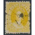 AUSTRALIA / QLD - 1864 6d yellow QV Chalon, perf. 13, small star watermark, used – SG # 49