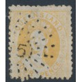 AUSTRALIA / QLD - 1876 4d yellow QV Chalon, perf. 13, Q crown watermark, used – SG # 103