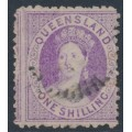 AUSTRALIA / QLD - 1879 1/- mauve QV Chalon, perf. 12, no watermark, used – SG # 117