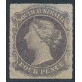 AUSTRALIA / SA - 1867 4d dull violet QV Diadem, large star watermark, rouletted, MNG – SG # 27