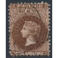 AUSTRALIA / SA - 1902 1/- dark reddish brown QV, perf. 11½:11½, crown SA wmk, used – SG # 148