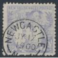 AUSTRALIA / NSW - 1890 20/- cobalt-blue Carrington, perf. 11:11, '20/- NSW' watermark, used – SG # 264a