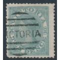 AUSTRALIA / VIC - 1865 10d grey QV Laureates, perf. 13, '8' watermark, used – SG # 119