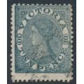 AUSTRALIA / VIC - 1865 10d grey-black QV Laureates, perf. 13, '8' watermark, used – SG # 119a