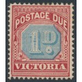 AUSTRALIA / VIC - 1893 1d dull blue/brownish red Postage Due, MH – SG # D2a
