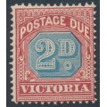 AUSTRALIA / VIC - 1893 2d dull blue/brownish red Postage Due, MH – SG # D3a