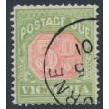 AUSTRALIA / VIC - 1896 5d pale scarlet/yellow-green Postage Due, CTO – SG # D15a