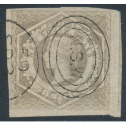 AUSTRALIA / NSW - 1859 6d greyish brown Diadem, imperforate, '8' watermark, used – SG # 96a