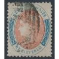 AUSTRALIA / NSW - 1862 6d rose-red/blue REGISTERED, perf. 13, '6' watermark, used – SG # 125