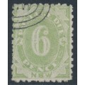 AUSTRALIA / NSW - 1893 6d green Postage Due, perf. 10, reversed watermark, CTO – ACSC # ND30a