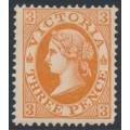 AUSTRALIA / VIC - 1901 3d dull orange QV without POSTAGE, MH – SG # 378