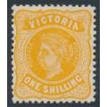 AUSTRALIA / VIC - 1913 1/- orange QV, crown A watermark, perf. 12½:12 on thin paper, MH – SG # 425c