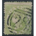 AUSTRALIA / VIC - 1863 1d pale green Diadem – '289' numeral cancel (rarity = RRR)
