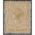 AUSTRALIA / VIC - 1884 1d ochre STAMP DUTY, perf. 12½, MH – SG # 265