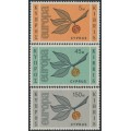 CYPRUS - 1965 Europa set of 3, mint never hinged – SG # 267-269