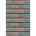 FALKLAND ISLANDS DEPENDENCIES - 1944 ½d to 1/- KGVI definitives sets of 8 for each region, MNH