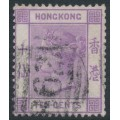 HONG KONG - 1882 10c dull mauve Queen Victoria, crown over CA watermark, used – SG # 36