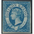 IONIAN ISLANDS - 1859 1d blue Queen Victoria, imperforate, unused – SG # 2