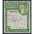 FALKLAND ISLANDS DEPENDENCIES - 1948 ½d black/green Map (thin and clear), used – SG # G9