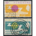 HONG KONG - 1965 ITU Centenary set of 2, used – SG # 214-215
