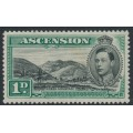 ASCENSION IS - 1938 1d black/green Green Mountain KGVI definitive, perf. 13½, MH – SG # 39