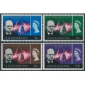 ASCENSION IS - 1966 Churchill Commemoration set of 4, MNH – SG # 91-94