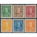 CANADA - 1935 1c to 8c KGV Definitives set of 6, MH – SG # 341-346