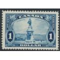 CANADA - 1935 $1 bright blue Champlain Monument, Québec, MH – SG # 351