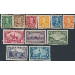 CANADA - 1935 1c to $1 KGV Definitives set of 11, MH – SG # 341-351
