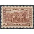 CANADA - 1938 20c red-brown Fort Garry Gate, Winnipeg, MNH – SG # 365