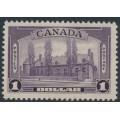 CANADA - 1938 $1 violet Château de Ramezay, Montréal, MNH – SG # 367