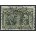 CANADA - 1908 7c olive-green Generals Montcalm and Wolfe, used – SG # 192