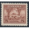 CANADA - 1942 8c red-brown Farm Scene, MNH – SG # 382