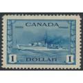 CANADA - 1942 $1 blue HMS Cossack, MNH – SG # 388