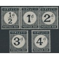 FIJI - 1918 ½d to 4d Postage Dues set of 5, mint hinged – SG # D6-D10