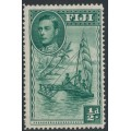 FIJI - 1941 ½d green Native Canoe KGVI definitive, perf. 14:14, MNH – SG # 249a
