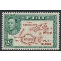 FIJI - 1940 2d brown/green Map of the Islands KGVI definitive, die I, MH – SG # 253