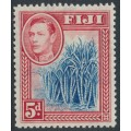 FIJI - 1938 5d blue/scarlet Sugar Cane KGVI definitive, MH – SG # 258