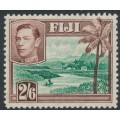 FIJI - 1938 2/6 green/brown River Scene KGVI definitive, MNH – SG # 265