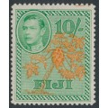 FIJI - 1950 10/- orange/emerald Paw Paw Tree definitive, MH – SG # 266a