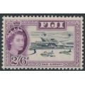 FIJI - 1961 2/6 black/purple Nadi Airport QEII definitive, multi script CA watermark, MNH – SG # 307