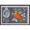 FIJI - 1962 5/- red/yellow/grey Orange Dove QEII definitive, MNH – SG # 323