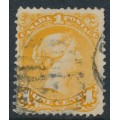 CANADA - 1869 1c orange-yellow Queen Victoria, large type, used – SG # 56a